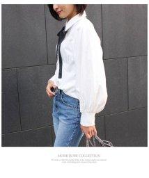 MODE ROBE/バルーンスリーブリボンシャツ/500132151