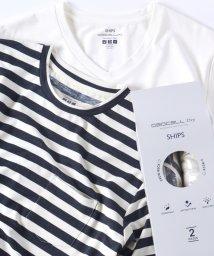 "SHIPS MEN/SC: 高機能消臭糸""デオセル(R)(DEOCELL(R))""使用 消臭・抗菌 2パック Tシャツ/500138720"