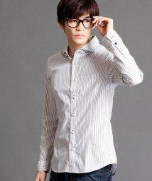 NICOLE CLUB FOR MEN/ホリゾンタルカラーシャツ/500112970