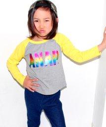 ANAP KIDS/ロゴレインボーラグランロングTシャツ/500128009