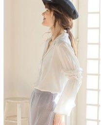 Re:EDIT/ボリューム袖フリル切り替えシャツ/500141235