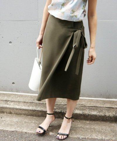 カラーラップスカート◆