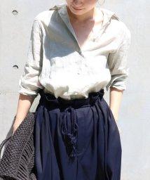 NOBLE/【otonaMUSE7月号掲載】フレンチリネン カシュクールシャツ◆/500149123