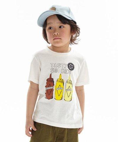ソースプリントTシャツ
