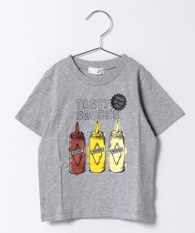 b-ROOM/ソースプリントTシャツ/500135541