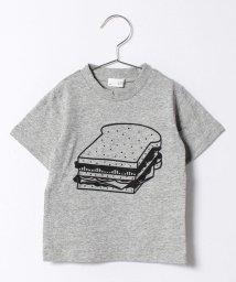 b-ROOM/フードプリントTシャツ/500135543