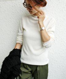 and Me.../ニット レディース 長袖 リブ ハイネック カシミアタッチ クルーネック トップス セー/500151983