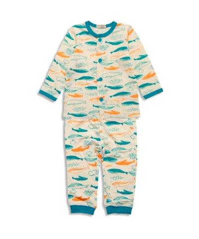 Boy'sクジラ総柄PT前開き長袖パジャマ