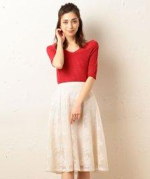 MIIA/ボンディング刺繍メッシュスカート/500152466