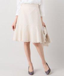 La TOTALITE/ラメツイード ペプラムスカート/500153824