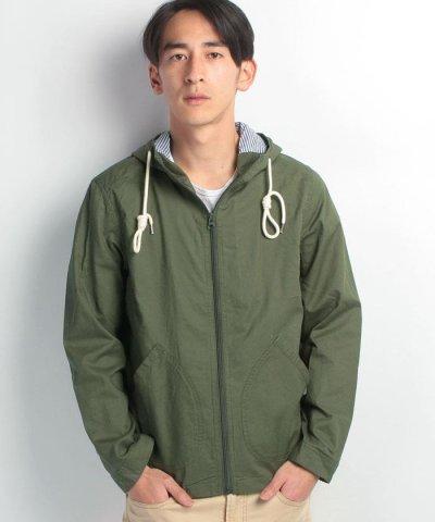 【BLUESTANDARD】綿麻ドビーシャツパーカー