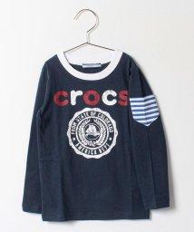 crocs(KIDS WEAR)/ポケット付ロゴプリントロングTシャツ/500140968