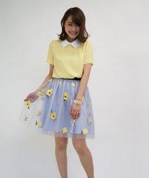 31 Sons de mode/チュール花柄刺繍スカート/500153403