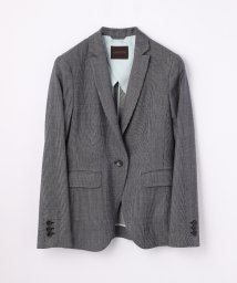 TOMORROWLAND collection/ウールレーヨンストライプ セミピークドジャケット/500154480