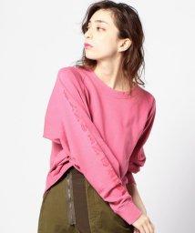 ROSE BUD/(ROSE BUD)袖ロゴプリント入りトップス/500157201