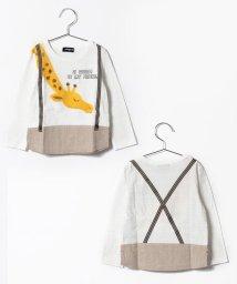 kladskap/サスペンダーアニマル長袖Tシャツ/500148327