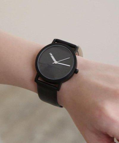 スリット盤腕時計/queite