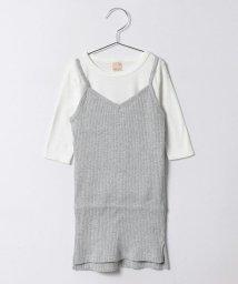 petit main/テレコキャミワンピース×無地Tシャツセット/500147345
