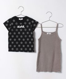 X-girl Stages/リブニットキャミワンピース×ロゴ入りTシャツセット/500147542