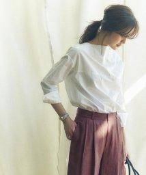 NIJYUSANKU/【WEB限定カラー有】Cancliniシャーティング オフショルダーシャツ/500168165