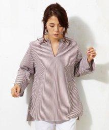 NIJYUSANKU/【WEB限定カラー有】Cancliniシャーティング Vネックチュニックシャツ/500168166