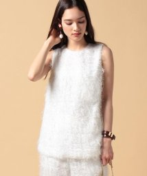 beautiful people/【セットアップ対応商品】cut fur cloth top/500150182