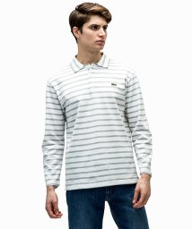 LACOSTE Mens/ボーダーポロシャツ (九分袖)/500143277