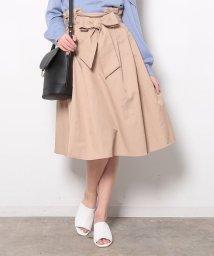 ViS/リボン付きハイウエストスカート/500160220