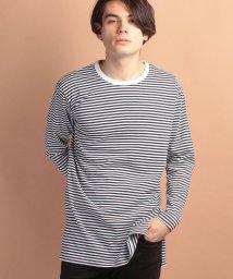 JUNRed/ボーダーロングTシャツ/500163300