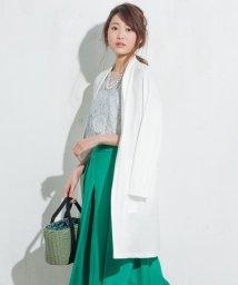 JIYU-KU /【接触冷感・洗える】クリアジェンヌオメガ カーディガン(ロング)/500139853