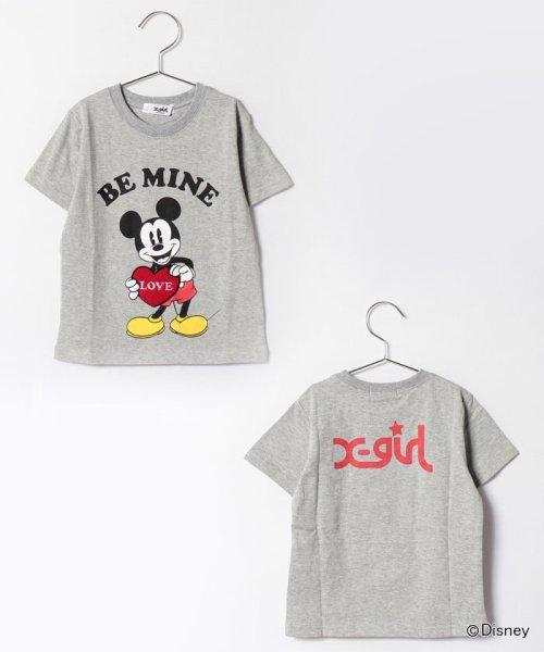 X-girl Stages(エックスガール ステージス)/Disneyコラボミッキーマウス・ミニーマウスプリントTシャツ/9272229
