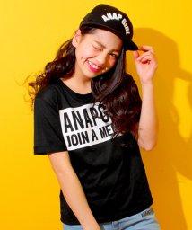 ANAP GiRL/ボックスロゴロールアップTシャツ/500161349