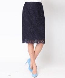Viaggio Blu/≪大きいサイズ≫【セットアップ対応】総レースタイトスカート/500191264