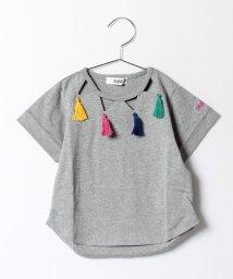 X-girl Stages/タッセルつきTシャツ/500160721