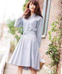 31 Sons de mode/【andGIRL3月号掲載】ストライプシャツ×共布ベルト付スカート/500048204