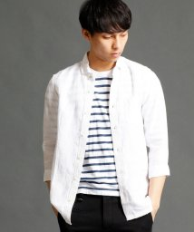 NICOLE CLUB FOR MEN/ストライプ柄7分袖シャツ/500159980