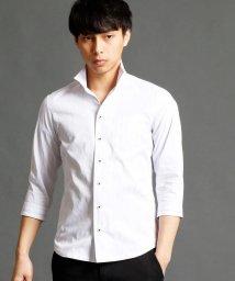 NICOLE CLUB FOR MEN/マルチストライプ柄7分袖シャツ/500159981