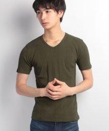 JNSJNM/【FORT POINT】テレコVネックTシャツ/500158761