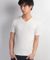 JNSJNM/【OUTDOOR PRODUCTS】フトストライプVネックTシャツ/500159161