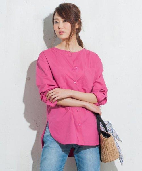 JIYU-KU (自由区)/【洗える】ハイカウントコットンブロード シャツ/BLWMHM0456