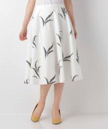 JUSGLITTY/ミモザ刺繍フレアスカート/500207568