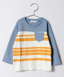 KOE/ボーダーキリカエ長袖Tシャツ/500166602