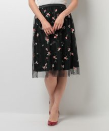 31 Sons de mode/花柄刺繍チュールスカート/500200204