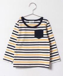 KOE/バイカラーボーダー胸ポケット長袖Tシャツ/500166601