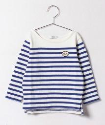 KOE/ボートネックパネルボーダーTシャツ/500166607