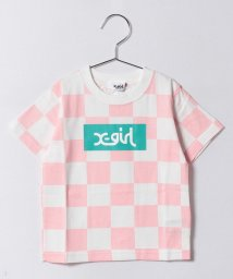 X-girl Stages/チェッカー半袖Tシャツ/500194423