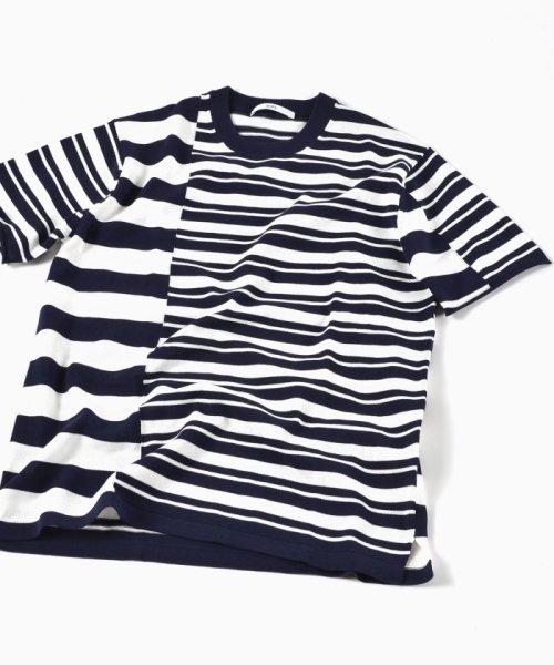 SHIPS MEN(シップス メン)/SC: クレイジー/ボーダー ニット Tシャツ/116010557