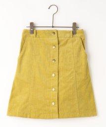 Ray Cassin /前ボタンコーデュロイ台形スカート/500211997
