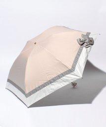 LANVIN en Bleu(umbrella)/晴雨兼用ミニ遮光 切継×ビジューリボンパラソル/LB0003482
