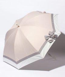 LANVIN en Bleu(umbrella)/晴雨兼用ショート遮光 切継×ビジューリボンパラソル/LB0003483